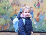 Принц Джордж пошел вдетский сад