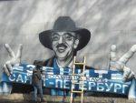 Граффити сБоярским, болеющим за«Зенит», появилось наКрестовском острове